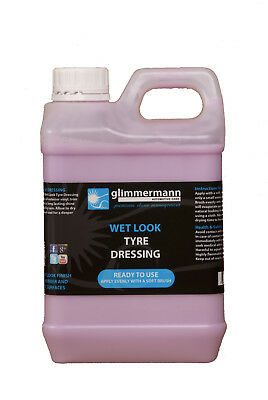 Glimmermann Wet Look Vinyl Trim Tyre Rubber Dressing Slick Shine Non Flick 2L