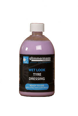 Glimmermann Wet Look Tyre Dressing Rubber Slick Shine Non Flick Vinyl Trim 500ml