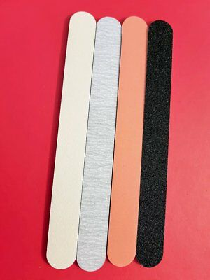 Nail Files Acrylic Gel 80 100 180 240 Grit Straight Professional File Nails
