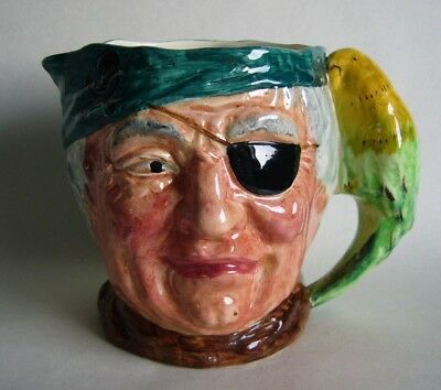 Large Vintage Long John Pirate Character Jug Lancaster And Sons C1935
