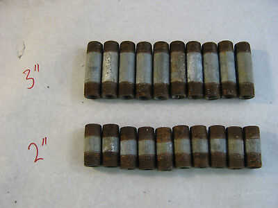 """(20) 3/4"""" diameter Vintage MADE IN USA Galvanized Pipe Pieces Fittings Steampunk"""