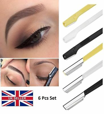 UK 6pcs Women Face & Eyebrow Hair Removal Safety Razor Trimmer Shaver Tools C072