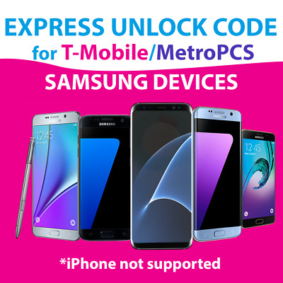 Instant T-Mobile Remote Device Unlock App Service Samsung Galaxy S8 Plus SM-G955