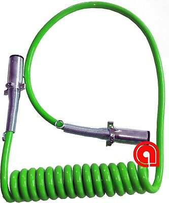 7 pin Trailer green ABS coil 4x12, 2x10 & 1x8 GAUGE 15ft Cable Set H-70512