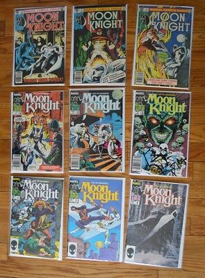Moon Knight LOT (Marvel, 1981) #3-5, Fist of Khonshu #1-6 (1985) 9 Comics
