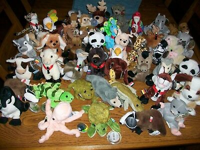 Lot Of 44 Coca Cola Plush International Beanie Babies Plush..1998.1999..Tags On.