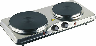 New Portable Electric Cooktop Hot Plate Stainless Steel Hotplate Caravan