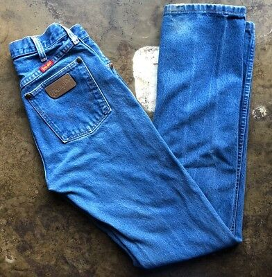 Wranglers Denim Jeans Vtg High Waisted Moms Made in the USA 27x35 Pants
