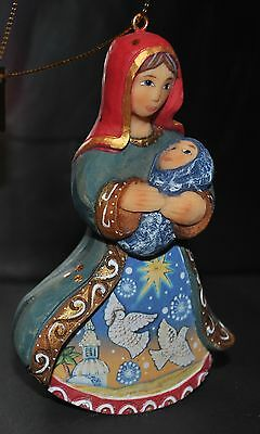 NEW DeBrekht Nativity Ornament Figurine MARY Jesus Jerusalem Dove Hand paint 4""