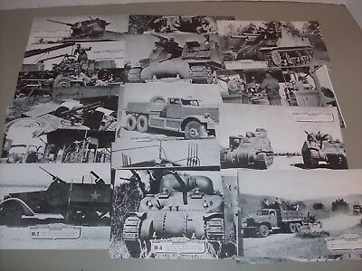 Lot Of 28 Military Photos Vintage Army Tanks,Vintage Jeep,WW2 Era Pictures