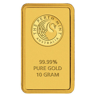 Perth Mint Gold 10 g Minted Bullion Bar (Certicard)