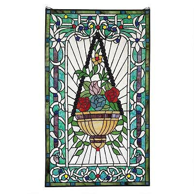 Stained Glass Art Victorian Hanging Chain Included Home Decor Wall Sculpture