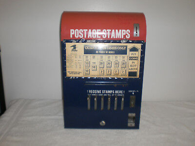 Vintage 1950's U.S.P.S Coin Operated Postage Stamps Vending Machine - Working -