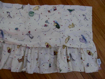 "1 WINNIE THE POOH Disney Balloon Window Valance 82"" long~Alphabet Classic Pooh"