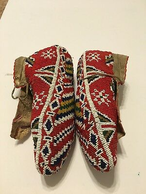 Sioux Fully Beaded Ceremonial Moccasins