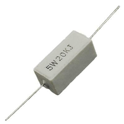 10 Piece Rectangle 20K Ohm  5W Fixed LED lamp Cement Power Resistors YS