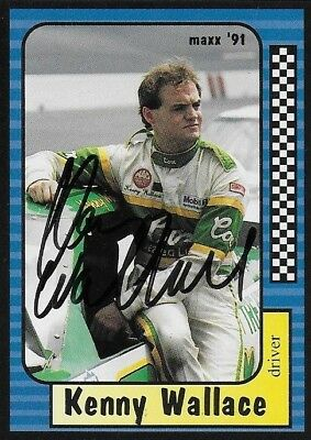 Kenny Wallace Autographed Signed 1991 Maxx Racing Nascar Photo Trading Card #39