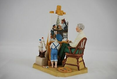 """Norman Rockwell Figurine 1985 Limited Edition """"Another Masterpiece"""""""