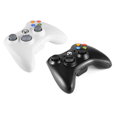 Microsoft Xbox 360 Wireless Controller Video Gamepad Black and white official