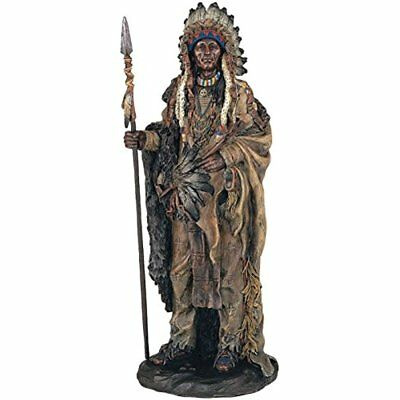SS-G-11358 Native American Warrior Collectible Indian Decoration Figurine Statue