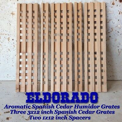 New Larger 3 X 12 Inch Spanish Cedar Grates And Two 1x12 inch Spacers.