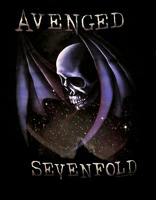 AVENGED SEVENFOLD cd lgo DEATH STAR Official SHIRT LRG new