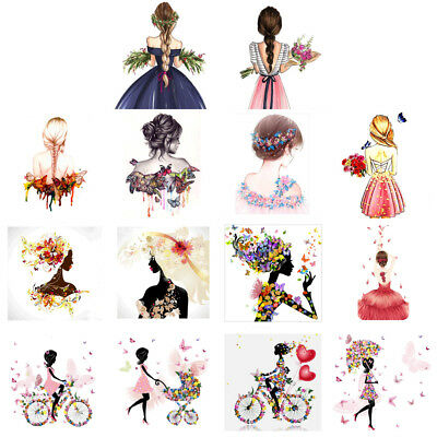 DIY 5D Diamond Painting Embroidery Beauty Girl Cross Craft Stitch Kit Home Decor