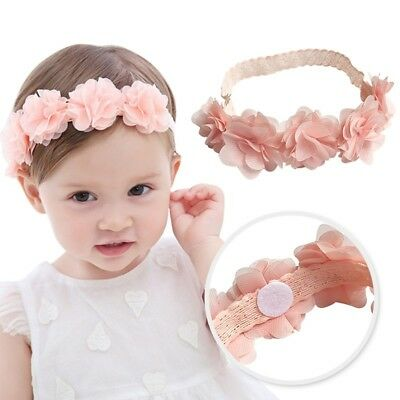 UK Newborn Baby Girls Rose Flower Headband Infant Toddler Hair Band Accessories