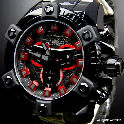Invicta Coalition Forces Grand Octane Black Label 63mm Swiss Mvt Steel Watch New