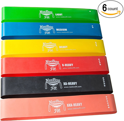 NeeBooFit Resistance Loop Band Set - Best Fitness Exercise Bands for Working Out