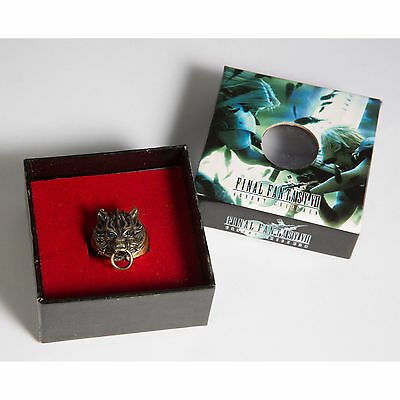FF 7 Final Fantasy VII Cloud Wolf Ring Alloy Metal Ring Bronze + Gift Box