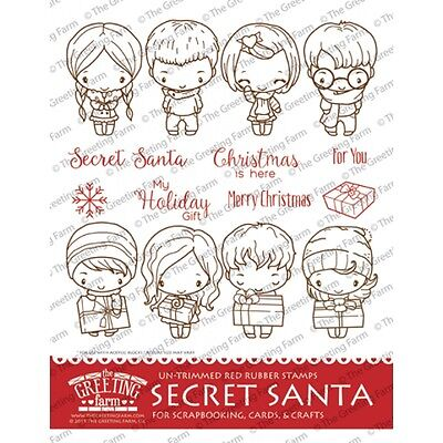 Sparkle kit the greeting farm rubber stamp stamping craft magical secret santa kit the greeting farm rubber stamp stamping anyaian m4hsunfo