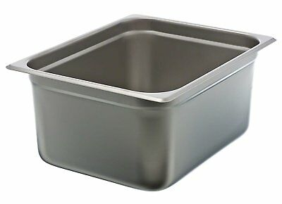 "Update International NJP-506 6"" Half-Size Anti-Jam Steam Table Pan"