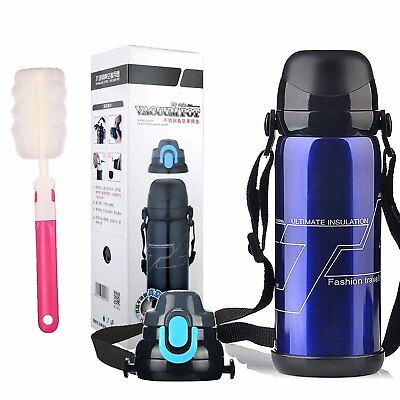Leebei Portable Water Bottle Thermos 30 oz Double Wall Vacuum Insulated Steel