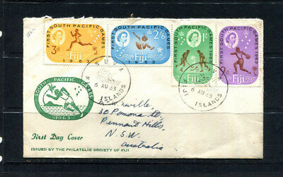 Fiji Commonwealth 1963 Fdc First Day Stamp Cover South Pacific Games  Lot 147