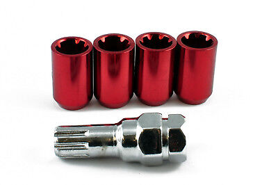 TUNER LOCKING STEEL WHEEL NUTS RED M12 x 1.5 fits HONDA CIVIC S2000 ACCORD