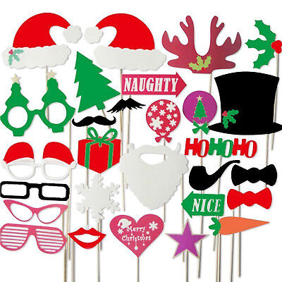 Colourful Party Props Photo Booth on Sticks Special Edition -'Christmas'