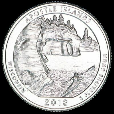 "2018 D Apostle Islands National Park Quarter Wisconsin ""BU"" ATB"