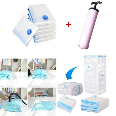 5X -MD Vacuum Storage Bags Space saver +Hand pump For travel Triple Seal Clothes