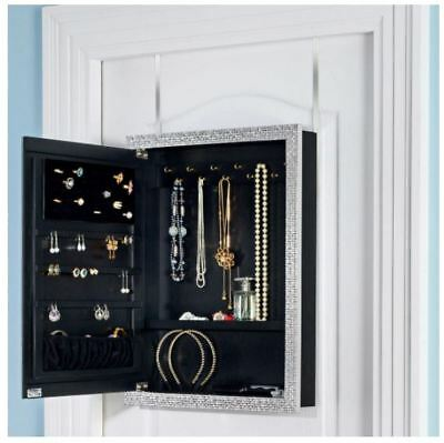 OVER Door Jewelry Organizer Hanging Closet Valet Vanity Earring