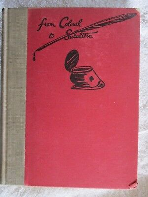 From Colonel To Subaltern - Some Keys For Horse Owners By McTaggart 1st Ed. 1928