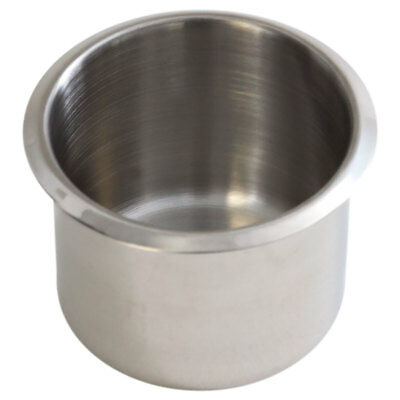 Small Stainless Steel Drop In Cup Holder For Poker Table and Boat. New Free Ship