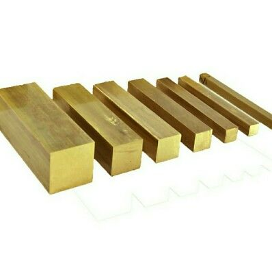 CHEAP - 10mm - Solid  BRASS SQUARE BARS/RODS - various lengths