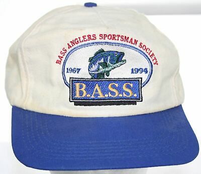 Vintage Bass Anglers Sportsman Society 1967-1994 Fishing Hat Snapback Cap