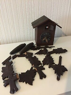 Old Black Forest Cuckoo Clock, Spares or Repairs.