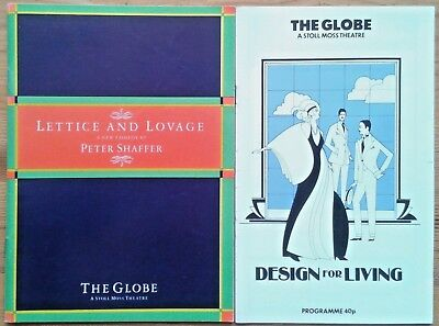 Selection of individual Globe Theatre programmes 1980s, West End programme