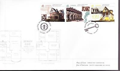 Canada 1998 combination FDC sc# 1755 (d,e,f) Housing in Canada, strip of 3 stamp