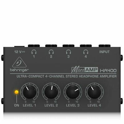Behringer - HA400 - Ultra Compact 4-Channel Stereo Headphone Amplifier