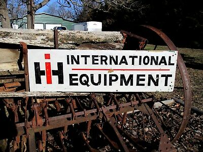 Vintage International Harvester Equipment Wood Sign Truck Gas Oil Large 41""