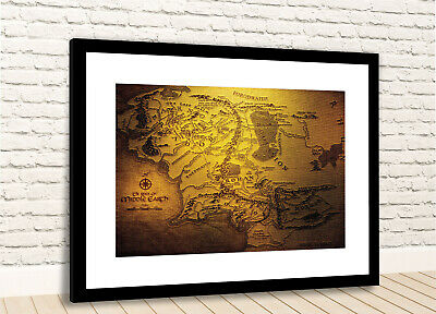 LORD OF THE RINGS MIDDLE EARTH WORLD POSTER PRINT WALL ART A4//A3 SIZES LORM01